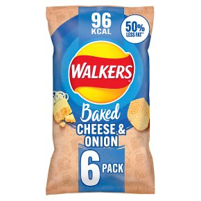 Walkers Baked cheese & onion multipack crisps