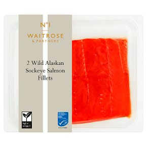Waitrose 1 wild Alaskan 2 sockeye salmon fillets