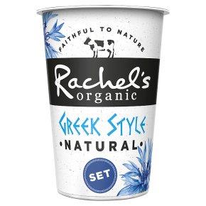 Rachel's organic Greek style natural set yogurt