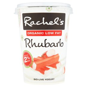 Rachel's organic low fat rhubarb yogurt