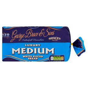Brace's thick cut white sliced bread