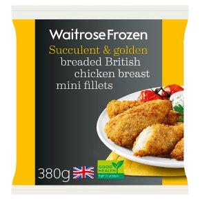 Waitrose Frozen British breaded chicken mini fillets