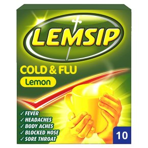 Lemsip 10 cold & flu lemon sachets