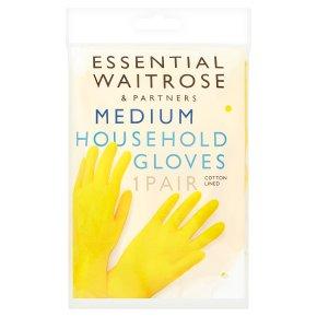 essential Waitrose household gloves, medium