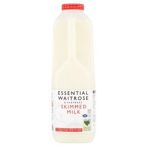 Waitrose skimmed Scottish milk