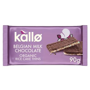 Kallo Milk Chocolate Rice Cake Thins