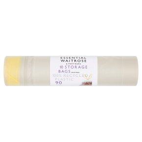 essential Waitrose clear storage bags
