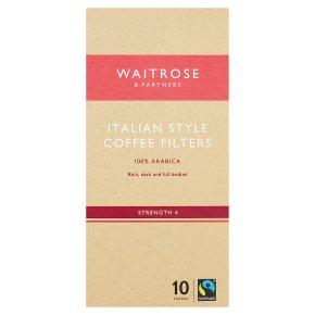 Waitrose 10 coffee filters Italian blend