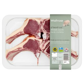 Waitrose Welsh 4 hand cut lamb rack cutlets