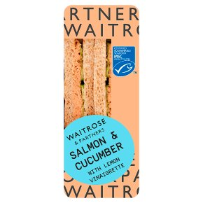 Waitrose Good to Go salmon & cucumber sandwich