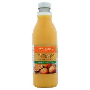 Waitrose orange juice with bits