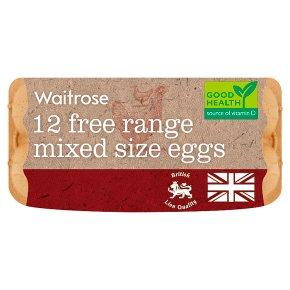 Waitrose Free Range Mixed Size Eggs British Blacktail