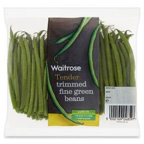 Waitrose trimmed fine green beans