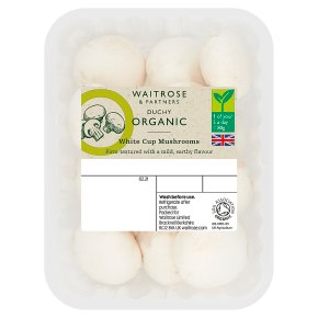 Waitrose Duchy Organic white cup mushrooms