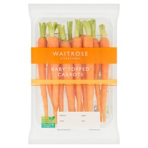 Waitrose Baby Topped Carrots