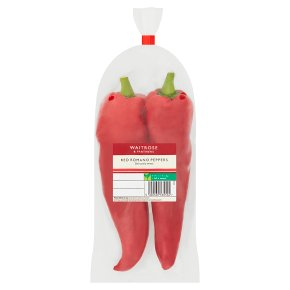 Waitrose red Romano peppers