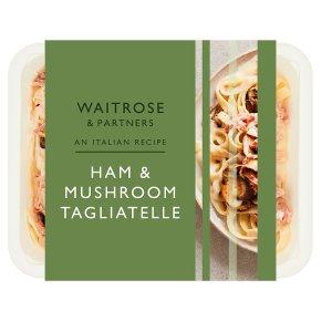 Waitrose ham and mushroom tagliatelle