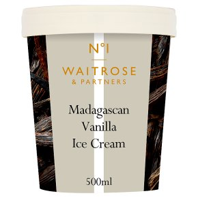 Waitrose 1 Madagascan vanilla ice cream