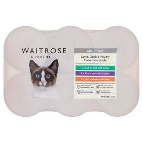 Waitrose special recipe cat food, meat jelly selection - 6 x 400g