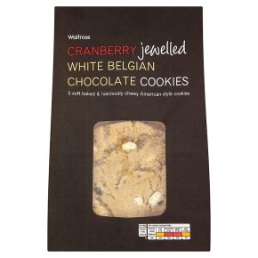 Waitrose cranberry & white chocolate cookies