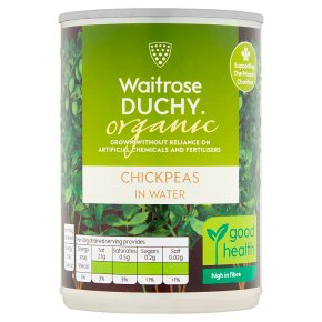 Waitrose Duchy Organic canned chick peas