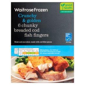 Waitrose Frozen 6 chunky breaded cod fingers
