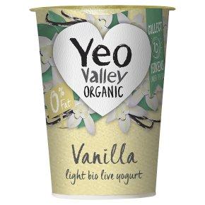 Yeo Valley organic fat free vanilla yogurt