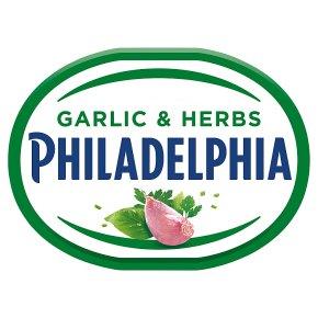 Philadelphia Garlic & Herbs soft white cheese