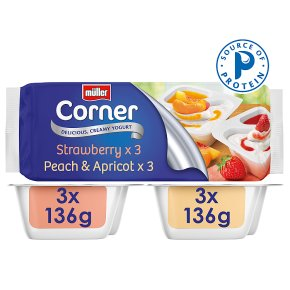 Müller Corner Strawberry & Peach Apricot Yogurts