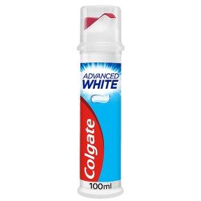 Colgate Advanced white toothpaste, pump