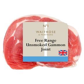 Waitrose unsmoked British free range gammon joint