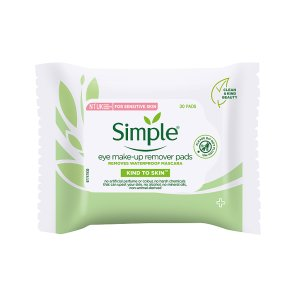 Simple Kind To Eyes 30 pack eye make-up remover pads