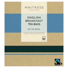 Waitrose English Breakfast Tea Bags 100