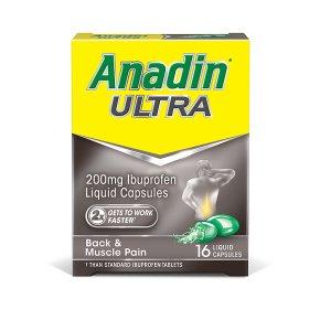 Anadin Ultra Liquid Capsules 16 Pack