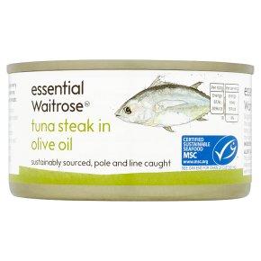 essential Waitrose MSC tuna steak in olive oil