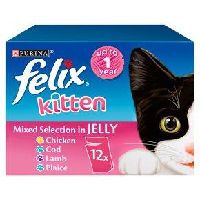 Felix Kitten Cat Food Mixed In Jelly