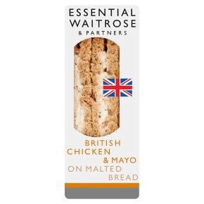 essential Waitrose roast chicken & mayo sandwich