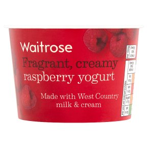 Waitrose Scottish raspberry yogurt