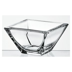 Clear 14cm glass square bowl