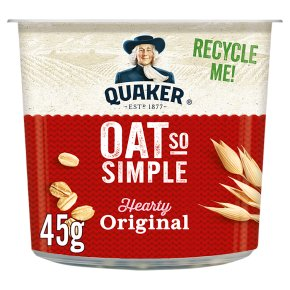 Quaker Oat So Simple original porridge cereal pot