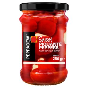 Peppadew sweet piquanté peppers with cream cheese