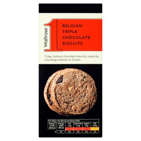 Waitrose 1 Belgian triple chocolate biscuits