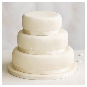 Fiona Cairns Undecorated 3-tier Wedding Cake (Fruit)