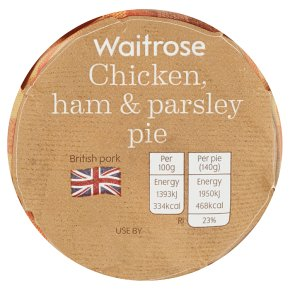 Waitrose Chicken, Ham & Parsley Pie