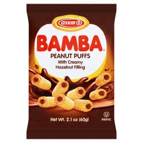 Osem Bamba Peanut Snack with Hazelnut Cream