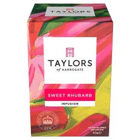 Taylors sweet rhubarb wrapped tea bags, 20 pack