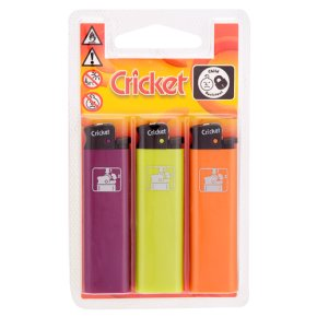 Cricket lighters (pack of 3)