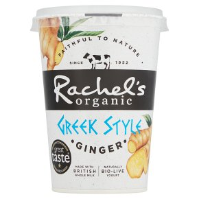 Rachel's organic Greek style ginger yogurt