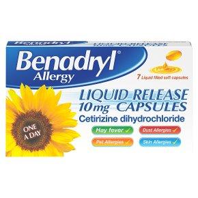 Benadryl Allergy Liquid Capsules
