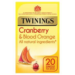 Twinings cranberry & blood orange 20 tea bags